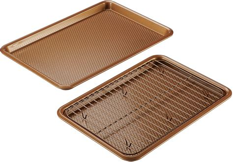 cookie sheet baking ayesha stick curry non bakeware rack cooling nonstick sheets wayfair pan sh glass cookies kitchen racks rated