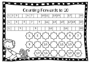 counting forwards and backwards to 20 freebie by olivia walker