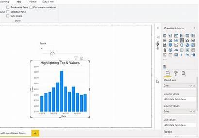 Bi Power Conditional Formatting Column Attention Charts
