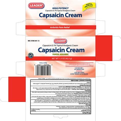LEADER CAPSAICIN (cream) CARDINAL HEALTH
