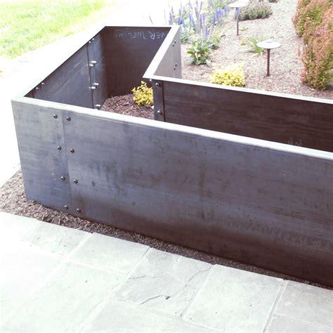 corten steel planter corten steel planter boxes metal fabrication denver custom welding exteior for addition