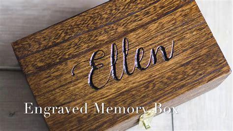 engrave  wood box youtube