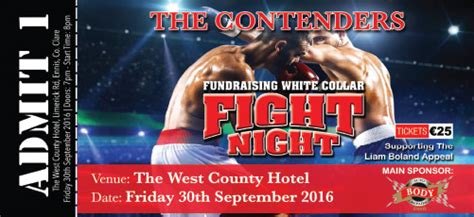 fundraising  white collar boxing boxing