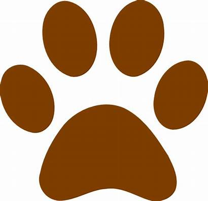 Paw Brown Clip Clipart Clker Royalty