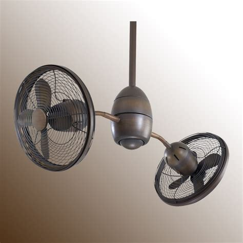 gyro ceiling fan by minka aire 36 quot dual gyrette gyro ceiling fan by minka aire fan 2