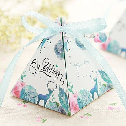 Romantic Wedding Gift Box Elegant Luxury Decoration Flower