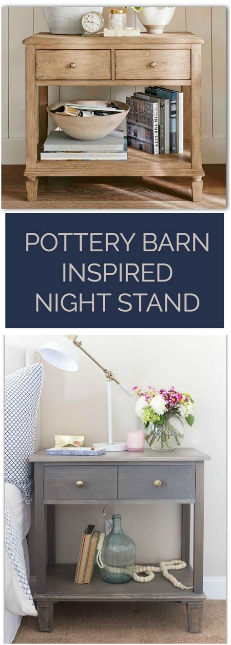 pottery barn kitchen accessories diy pottery barn inspired nightstands pottery barn 4374
