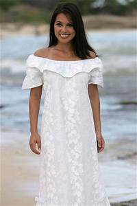 Wedding dresses hawaiian style for Hawaiian style wedding dresses
