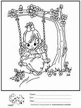 Swing Tree Coloring Precious Moments Drawing Swinging Pages Colouring Sheet Getdrawings 1050 Summer Printable Sheets sketch template