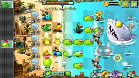 plants vs zombies 2 derrotando a zomboss playa de la gran