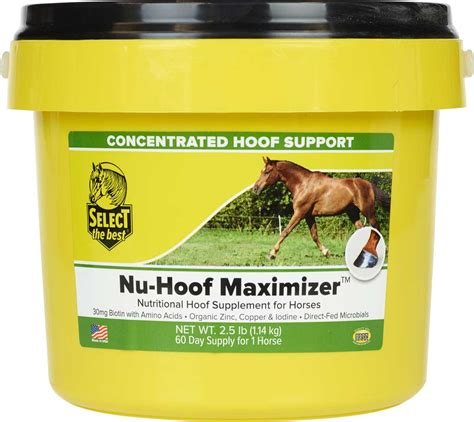 hoof supplement horses nu maximizer support select concentrated supplements larger flash non valleyvet