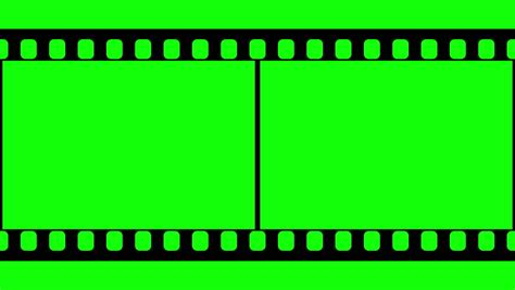 tv green screen template white film strip moveing on green background seamless loopable