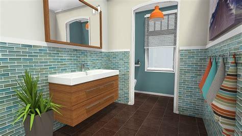 elegant modern black white bathroom  marble accents