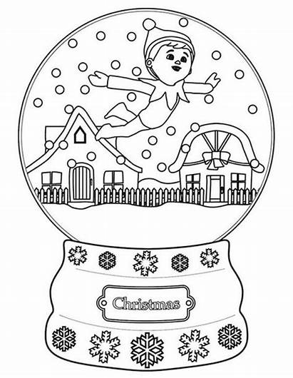 Elf Coloring Christmas Shelf Pages Angles