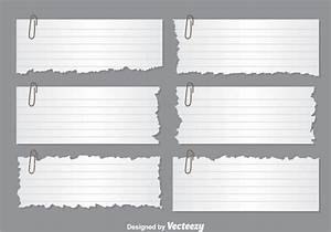 Ripped Paper Note Vectors - Download Free Vector Art ...