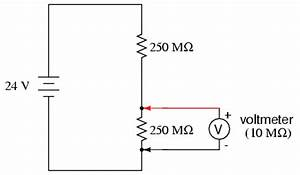 voltmeter impact on measured circuit dc metering With dc voltmeters