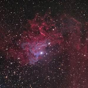 Flaming Star Nebula (IC 405) in Auriga Constellation ...