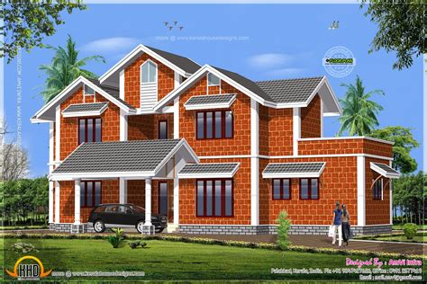 House Made Of Laterite Stone  Kerala Home Design And