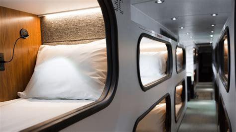 bus  sleep pods replace airplanes npr