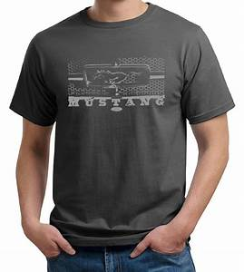 Mens Ford Mustang Shirt Honeycomb Grille Organic Tee T-Shirt - Ford Mustang T-shirts - Legend ...