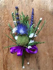 Scottish Themed Buttonholes Corsages Stirling Florist