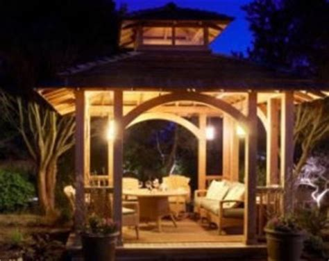 3 outdoor gazebo lighting ideas
