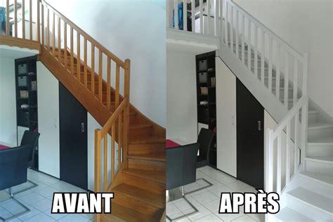 peindre  escalier en bois en  deco  faire