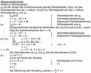 Parabel Schnittpunkt Berechnen : gerade parabel pflichtteilaufgaben 2010 2017 realschulabschluss ~ Themetempest.com Abrechnung