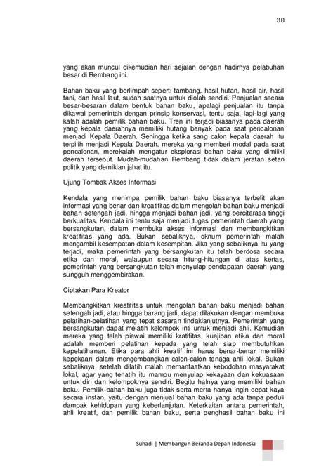 Membangun beranda depan indonesia