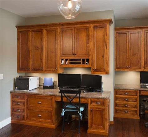 office kitchen cabinets custom built in office buy custom amish furniture 1154