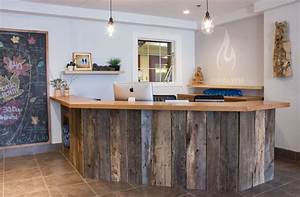 client work calming natural yoga studio refreshed designs With barn board office desk