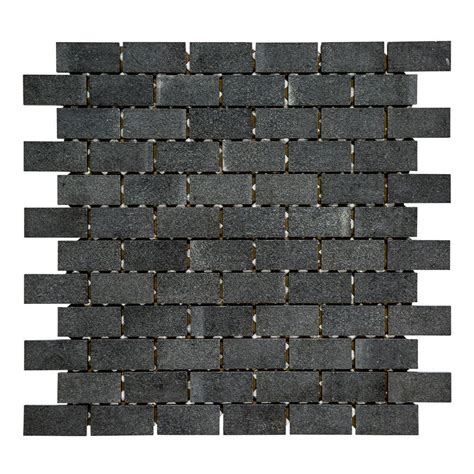 grey brick wall tiles jeffrey court flannel grey brick 11 3 4 in x 11 7 8 in x 7 92 mm stone mosaic wall tile 99771