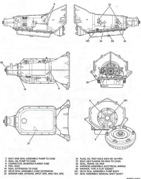 Chevy 700r4 Transmission Wiring Diagram by 700r4 Valve Exploded View Diagram Wiring Diagram