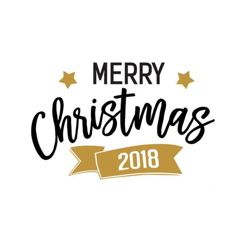 merry christmas 2018 banner vector free download