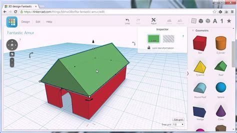 autodesk tinkercad house roof youtube