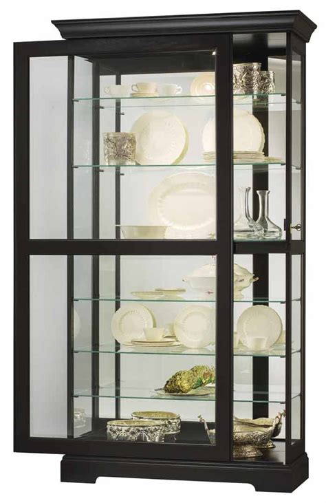 home depot glass doors interior howard miller ii 680 538 black curio cabinet the