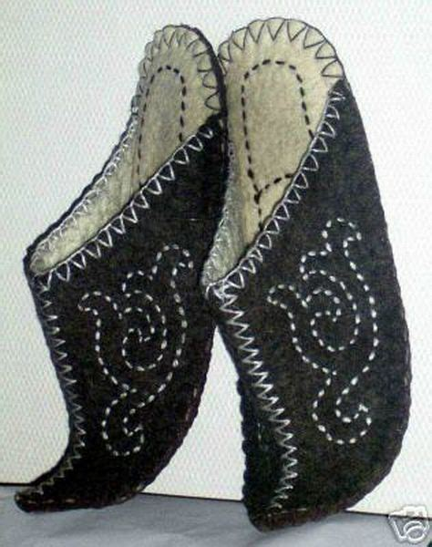 sheep images mongolian felt slippers