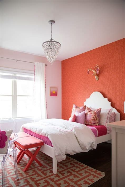 coral paint colors contemporary girls room benjamin moore coral reef danielle oakey