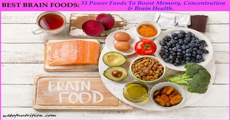 33 Best Brain Foods Boost Memory Concentration And Mood