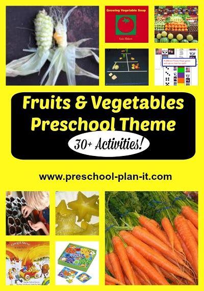 my preschool theme 138 | fruits and vegetables preschool theme pin
