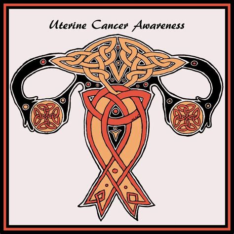 endometrial cancer awareness month google search peach ribbon pinterest endometrial