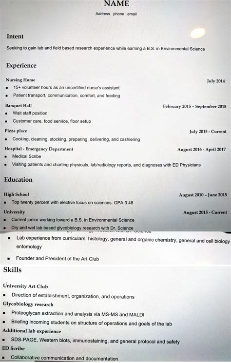 Help With My Resume by Asking For Help With My Resume For A Bio Lab Analyst