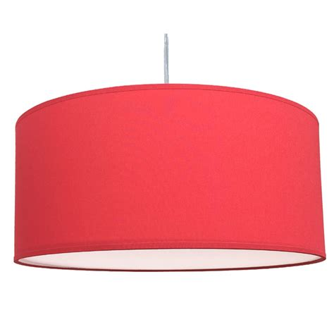drum pendant shade warm red imperial lighting