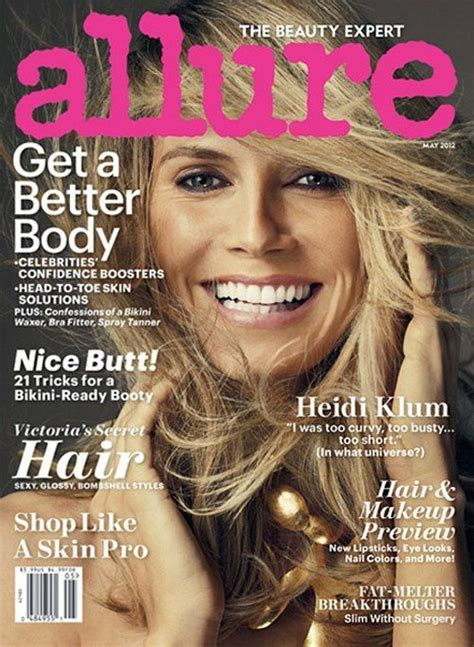 Heidi Klum Naked Stuns For Allure May