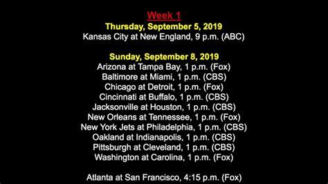 nfl schedule     draft america