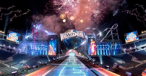 jaw dropping wrestlemania  stage fox sports
