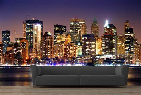 papier peint baie de new york de nuit 82 5 euros