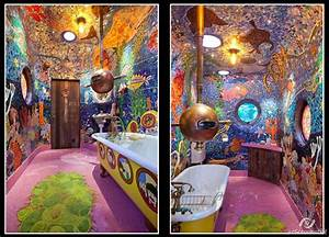 The beatless yellow submarine bathroom mad awesome genius for Yellow submarine bathroom