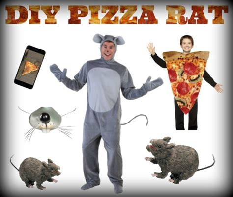 DIY Pizza Rat Halloween Costume - HalloweenCostumes.com Blog