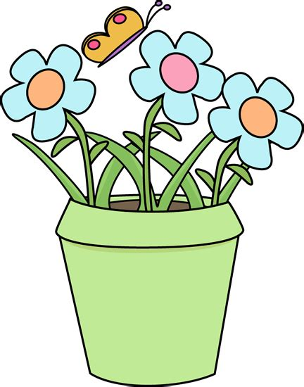 Flower Pot Clipart Gardening Flower Pot Clip Gardening Flower Pot Image